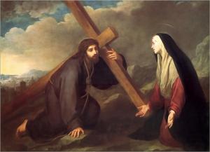 Cristo con su Madre